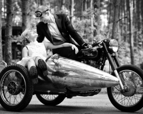 sesja ślubna na motorze Poznań